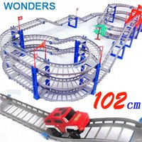 big roller coaster - 140pcs supper big DIY Assemb Slots Off road Vehicle D Electric Rail Car Layers Slot Kit Spiral Track Roller Coaster Child Gift