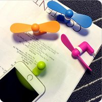 Wholesale Mini USB Fan Pin Flexible Portable Super Mute Cooler Cooling Fans For Android Phone Iphone S Plus DHL Free Ship