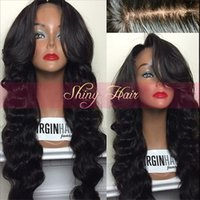 america human hair wig - Best body wave indian Full Lace Wig glueless Lace Front Wig unprocessed Human Hair wigs with full bangs for african america