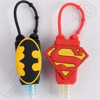 Wholesale 200PCS BATMAN V SUPERMAN LOGO Hand Soap Sanitizing Spray Bath Body Works Travel Portable Antibacterial Hand Gel Silicone LJJJ84