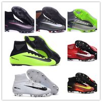 ankle basketball - New oriGINal mens high ankle football boots SupERfly MerCURial FG AG CR7 soccer shoes SupERfly V MercURialX ProXImo II IC TF soccer cleats