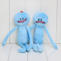 Wholesale 25cm Rick and Morty Happy Sad Meeseeks Stuffed Doll Plush Toy Kids Cartoon Anime Toys Gift