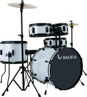 Wholesale Drum set BJ11851 PVC Piece Drum Set Black Powder