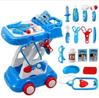 Wholesale Large size children doctor play set medical kit with Trolley play house toys classic doctora juguetes for boys and girls