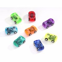 Wholesale Hot Sale Candy Color Plastic Mini Pocket Car Pull back Car Model Kids Toys For Boys Educational Best Christmas Gift for Child