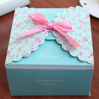 flower paper straws - Party Christmas bowknot gift box romantic wedding candy favor box custom kraft paper gift box cartoon flower cardboard boxes event gift wrap