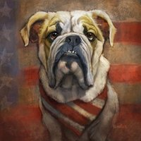 american impressionist art - Giclee american bulldog art smile by sharon cummings sharon cummings oil painting arts and canvas wall decoration No frame