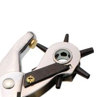 Wholesale S5Q Multi Size Premium Quality Durable Belt Holes Leather Hole Punch Hand Pliers AAAGFX