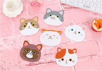 Wholesale Cute cartoon cat animal cup mat Creative eat mat pot pad bowl pad heat insulation silicone mat