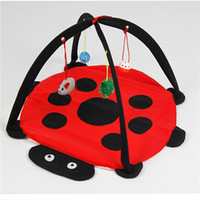 activities interactive - Cat Play Mat Toys Feline Play Comfortable Pad Activity Hanging Toy Interactive Foldable Pet Cat Activity Playing Tent Toys Bed Pad Blanket