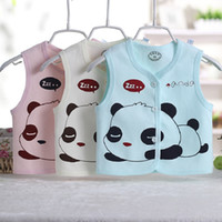 Wholesale Autumn Baby Outerwear Coats Vests Clothing Combed Cotton Monkey Pattern Baby Girls Boys Vest Clothes Baby Waistcoats