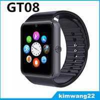 Cheap GT08 Bluetooth Smartwatch Sim card Smart Watch for iPhone IOS Samsung Galaxy Android Smartphone Pedometer Sleep Monitoring NFC
