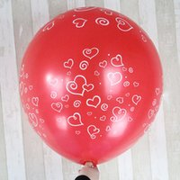 big layout - 40inch Round Latex Balloon Heart Printed cm Big Round Ballon for Wedding Engagement Valentine s Day Bithday Party Layout