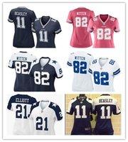 pink jersey - women football Jerseys Jason Witten Dallas cheap Aikman cowboys jerseys elite Beasley authentic football shirt size S XL