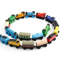 Wholesale TRAIN CAR OF wooden Complete set of car toy train toys set hot selling