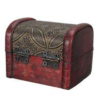 beautiful cases organizers - New Arrival Vintage Small Wooden Lock Jewelry Bracelet Holder Storage Box Case Organizer Craft beautiful ornament decoration