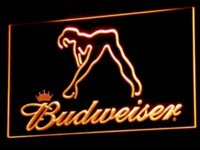 Wholesale a133 Budweiser Exotic Dancer Stripper Bar LED Neon Light Sign colors sent in hrs