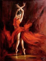Wholesale Framed FIERY DANCE Pure Handpainted Abstract Figure Art Oil Painting On Quality Canvas Multi Sizes
