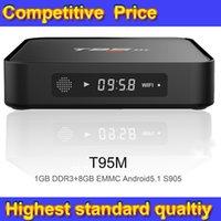 Wholesale High Quality T95m Tv Box Amologic S905 GB GB GB OS Android KODI VS Mini M8S MINI MX