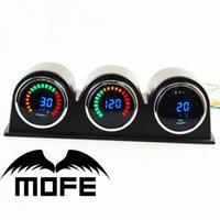 air ratio - Original Logo mm LCD Digital Bar Boost Gauge With Oil Pressure Air Fuel Ratio Meter Holes Gauge Pod Holders