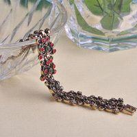 agate sculpture - 2015 Spring Flower Sculpture Secret Bracelet Bangle Retro Turkish Jewelry Antique Gold Plated Max Women Pulseras Pulseira Grillz