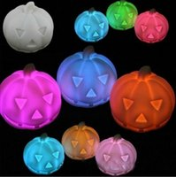 Wholesale Hot New Halloween LED changing light Pumpkin night light lamp Colorful Pumpkin decoration Night Light EMS