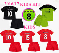 Wholesale new kids kit Liverpool Jerseys GERRARD BENTEKE LALLANA LUCAS COUTINHO FIRMINO STURRIDGE Away Home rd boys Football Shirts