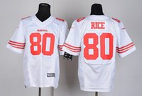 Wholesale new elite american football jersey Rice Boldin men jerseys adult shirts man shirt stiched tops black white red throwback top