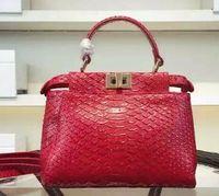 alligator skin handbags - 2016 New arrival genuine leather handbags snake skin fashion women bags high quality brand bags