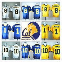 bear pullovers - Stitched NCAA California Golden Bears College Aaron Rodgers Marshawn Lynch DeSean Jackson Jersey Sport HOT Sale Cheap