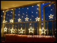 Wholesale Waterproof V LED Christmas Lights Luces de Navidad Party Lights Strip Wedding Lamp with Stars Led