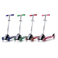 Wholesale HBC Scooter round three four wheel roller skates folding baby Children slippery car shipping skuter trottinette for kids