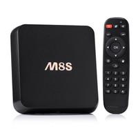 Wholesale M8S s812 GB ott tv box Online Update K Smart Android TV Box Quad Core GB GB Box Stream Video Sports Program Channels kodi15