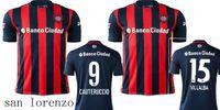 Wholesale San Lorenzo soccer jersey CAUTERUCCIO BARRIENTOS VILLALBA BLANCO home red men Top quality san lorenzo football shirt soccer jersey
