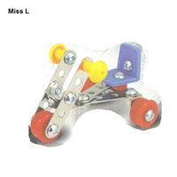Wholesale 44 Mini Vehicle D Three dimensional Puzzle DIY Metal Toys Assembled Model Gift Kid