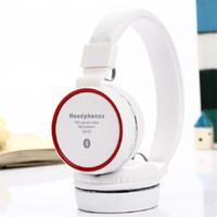 Casque d'écoute casque coloré Foldable Bluetooth Casque SH10 Écouteur stéréo avec microphone Carte TF Mp3 Player Radio FM pour Smart Phone Tablet P
