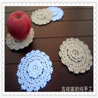bamboo kitchen items - 2016 new arrival cm D cotton crochet lace tablemat with flower as dinning table decoration items as kitchen accessories for sale