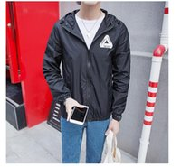 Wholesale Fall Stereoscopic triangle coat in Popular logo sun protective clothing Summer tourism trench men coat