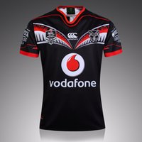 Wholesale In New Zealand first leader warriors rugby team super football jersey naval laboratory S XXXL