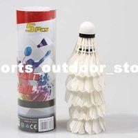 5Pcs Formação Badminton Branco Regenerative Cabeça de Pato Pena Badminton Shuttlecocks 803-5 H10532