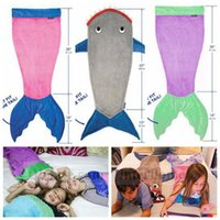 air spring bags - Mermaid Tail Shark Blankets Mermaid Cocoon Costume Mermaid Shark Sleeping Bags Mermaid Bedding Wrap Mermaid Air Condition Blankets B1298