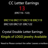 alphabet c - gold earrings for women C Full Crystal Gold Plated Letter earrings