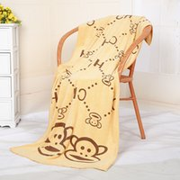 bath cost - Low Cost High Quality Knitted towel bath towels bath set bath towel towels rabbit monkey bath towel