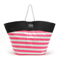 Wholesale Drop shipping Factory direct sales new fashion casual wild pink striped vs Ms leisure handbags shoulder bags