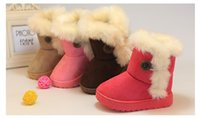 baby flannel fabric - Baby Shoes New Arrival Girls Boots Autumn Winter Fashion Korean Cute Rabbit Ears Low Flannel Boots AA