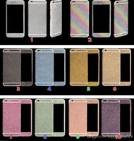 apple rainbow stickers - Luxurious Full Body Bling Diamond shiny Glitter Rainbow Front Back Sides Skin Sticker cover For Iphone G Plus S G p S
