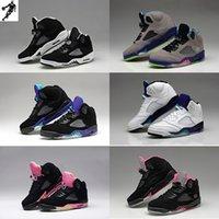 achat en gros de womens chaussures de basket-ball d'escompte-2016 rétro Air 5 femmes Retro Chaussures de basket originales femmes de qualité Chaussures de sport Sport Discount Chaussures Femmes Chaussures de plein air Chaussures de course