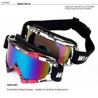 Wholesale WOLFBIKE UV400 Protection Ski Goggles Outdoor Sports Snowboarding Skate Goggles Men Women Snow Skiing Sun Glasses Eyewear
