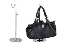 Wholesale 2PCS Metal single curved hook Adjustable Women bags handbag display Stand holder racks