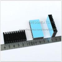 aluminum anodize - 10pcs x25x10mm Heatsink Aluminum Black Anodize Heat Sink Cooler With Blue Thermal Pad For LM2596 LM2577 LM2587